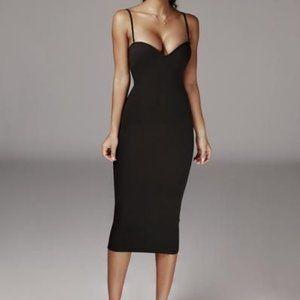 JLUXLABEL  Black Reagan Bustier Sleek Dress